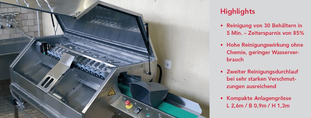 BLS reinigt Abfallbehälter effizienter und ergonomischer
