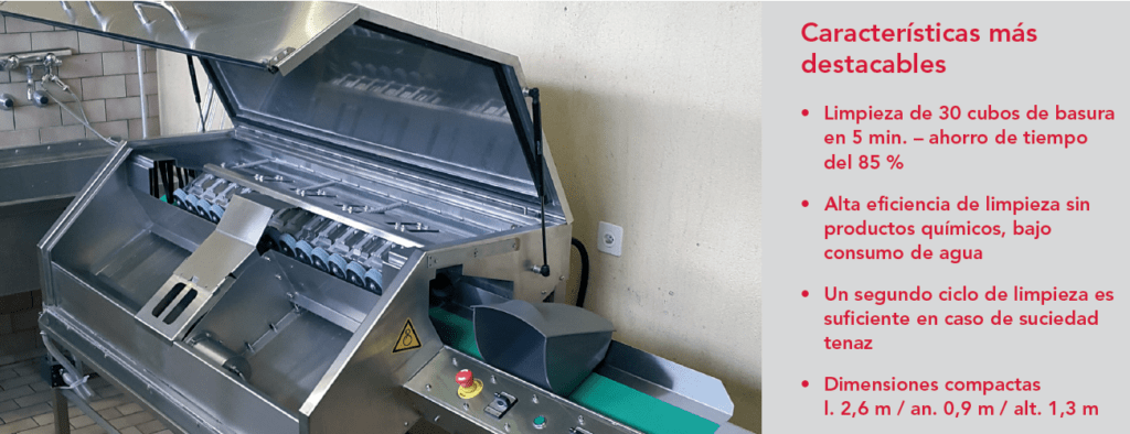 BLS limpia los cubos de basura de forma más eficiente y ergonómica