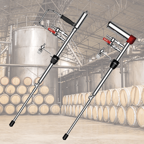 Hand-operated barrel cleaning units