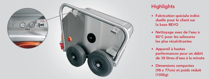Appareils mobiles performants pour le nettoyage à haute pression - Custom Made