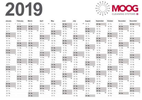 MOOG Annual Calendar 2019