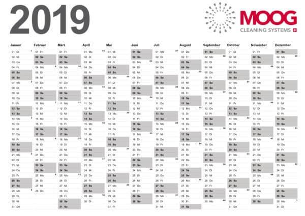 MOOG Jahreskalender 2019